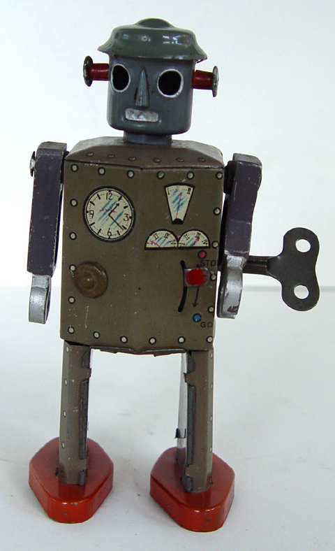 Atomic Robot Man might have been designed before World War II, but it was released shortly thereafter.