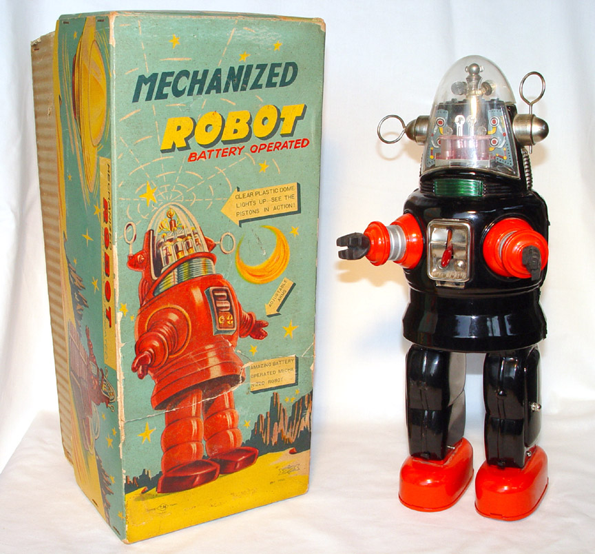 "This generically named robot is based on Robby, the helpful robot in the 1956 movie ""Forbidden Planet."""