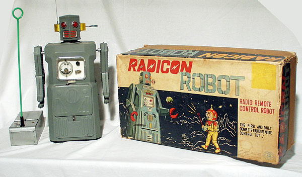 The Radicon Robot from the late 1950s was the first wireless, remote-control toy.