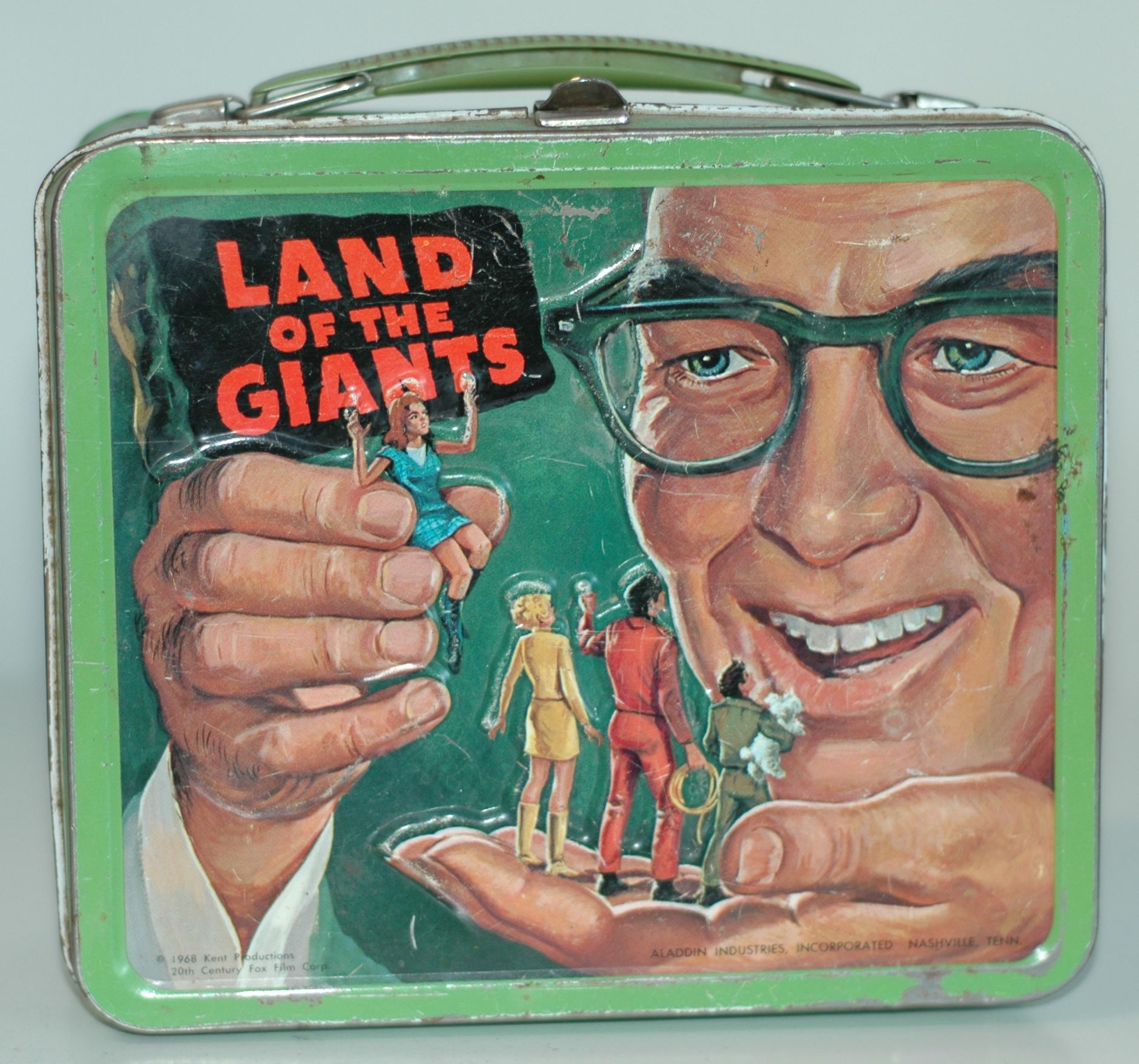 "This ""Land of the Giants"" lunch box from the late '60s was one of the first six Adams purchased in 1998."