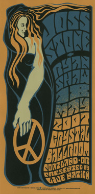 This poster was an homage to 1960's poster artist Wes Wilson.