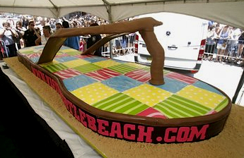 "In 2010, Buddy Valastro, TV's ""Cake Boss,"" baked and frosted a cake in the shape of a Vineyard Vines flip-flop."
