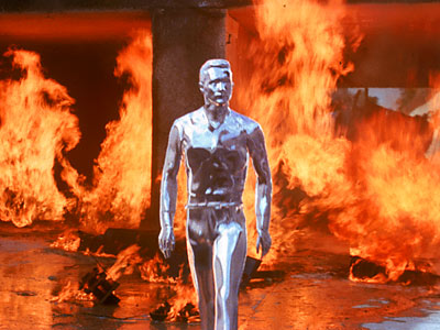 "The T-1000 from ""Terminator 2"" is an example of a modular robot."