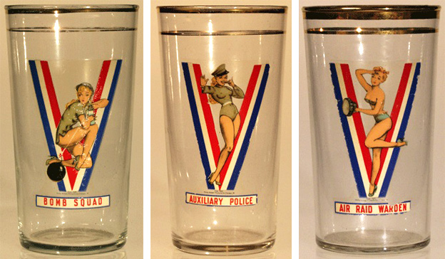 A partial set of victory glasses with no reveal on the inside. Photos courtesy of Tigre McMullan.