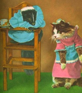 "This is why your cat hates you: Images from the live-action storybook, ""Squiffy the Skunk."""