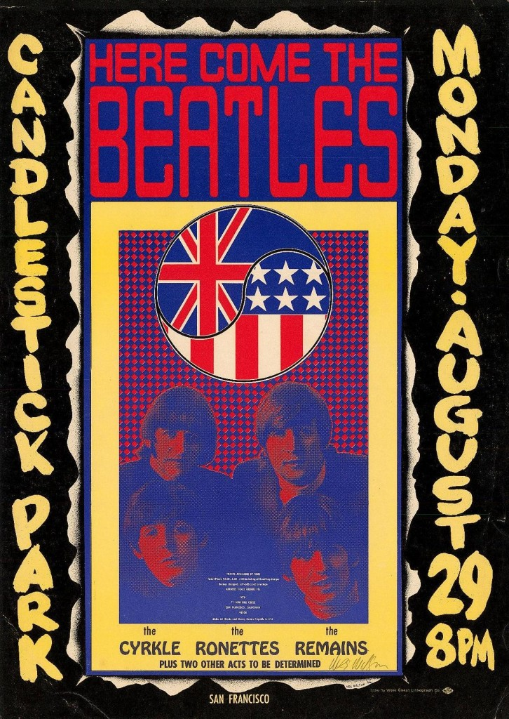 In 1966, Wes Wilson designed this poster for what turned out to be the last concert by The Beatles.