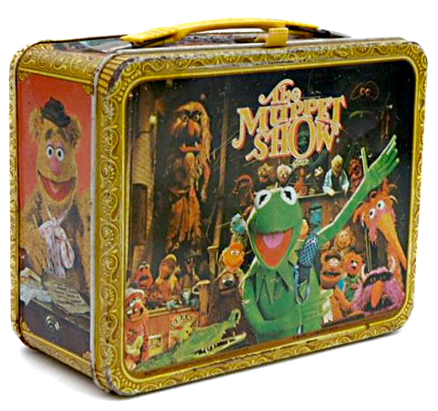 "An original lunch box from 1976, the first year of ""The Muppet Show."""