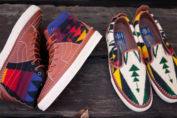 These limited-edition shoes, created by Japanese designer Taka Hayashi for Vans Vault in 2010, incorporate Pendleton wool weaves and now sell for hundreds on eBay.