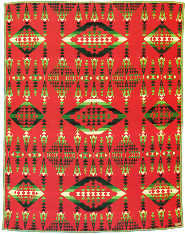 "A Pendleton center point blanket from 1921. Via ""Language of the Robe."""