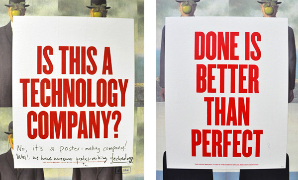 The Lab's propaganda-style posters are meant to provoke comments, and often do.