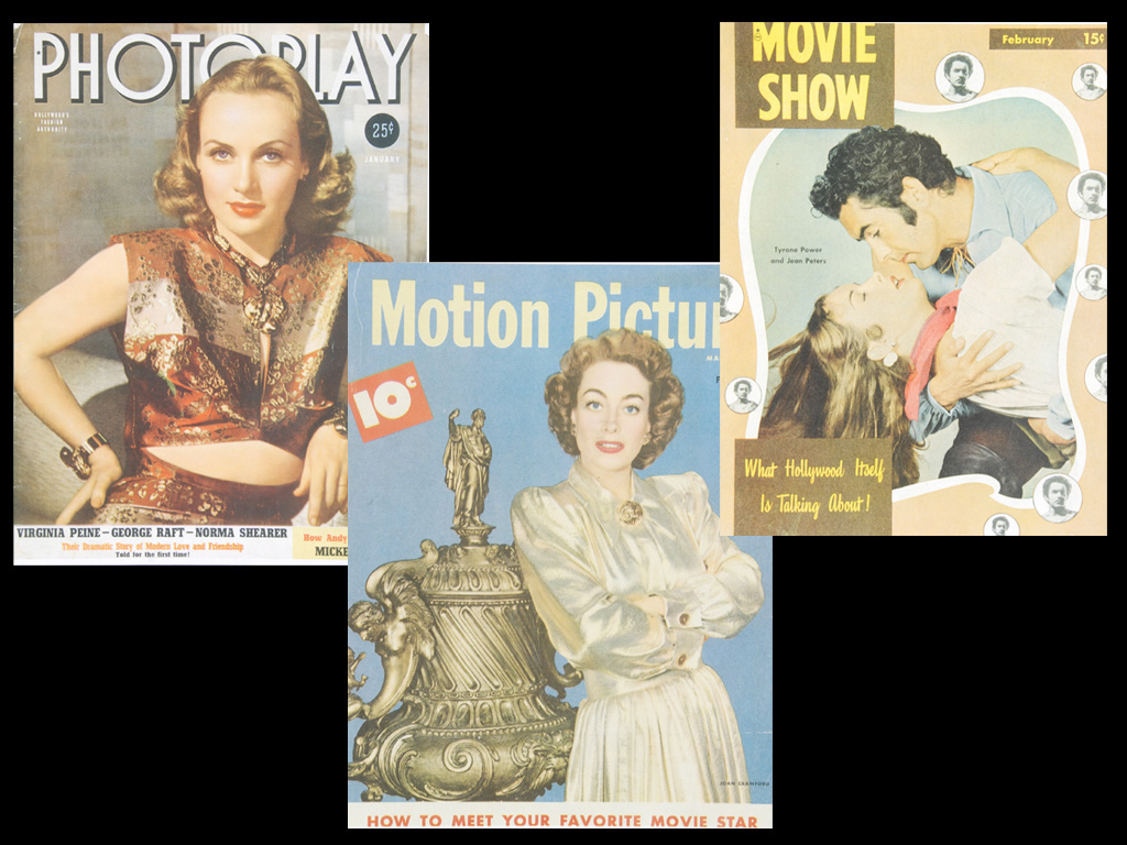 "Carole Lombard wears Joseff on the January 1940's ""Photoplay,"" and Joan Crawford flaunts a Joseff brooch on the February 1948 issue of ""Motion Picture."" February 1948's ""Movie Show,"" with Tyrone Power and Ann Blyth on the cover, features an article penned by Joseff entitled, ""Let's Be Glamorous!"""