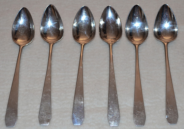 Vincent has traced these six coffin-handled teaspoons from their origins in Connecticut to their settlement in Vermont.