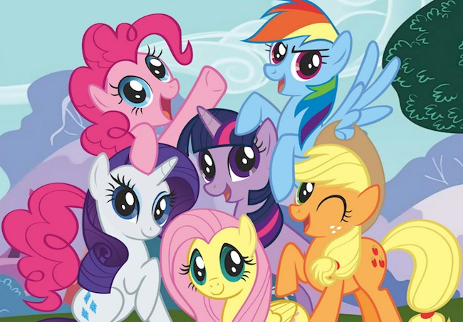 "The new cartoon, ""My Little Pony: Friendship Is Magic,"" focuses on Twilight Sparkle (center) and (clockwise from left) Rarity, Pinkie Pie, Rainbow Dash, Applejack, and Fluttershy."