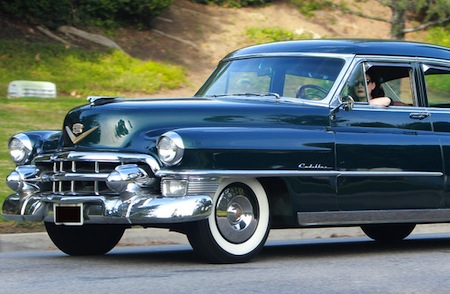 "Von Teese calls her 1953 Cadillac Fleetwood ""Steel Xanax."" Photo via Celebrity Car Blog."