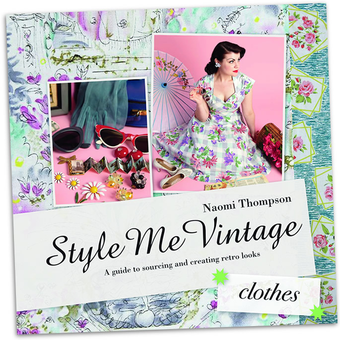 "Thompson's book, ""Style Me Vintage, Clothes,"" features Jeni Yesterday on the cover."
