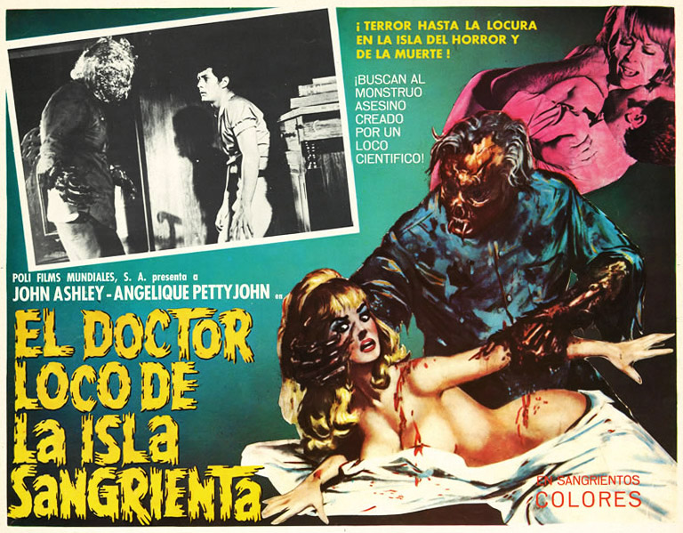 "1968's ""El Doctor Loco De La Sex Gore Scary Monsters Attack of the Mexican B Movie Ads 768x599 Movie-index.com"