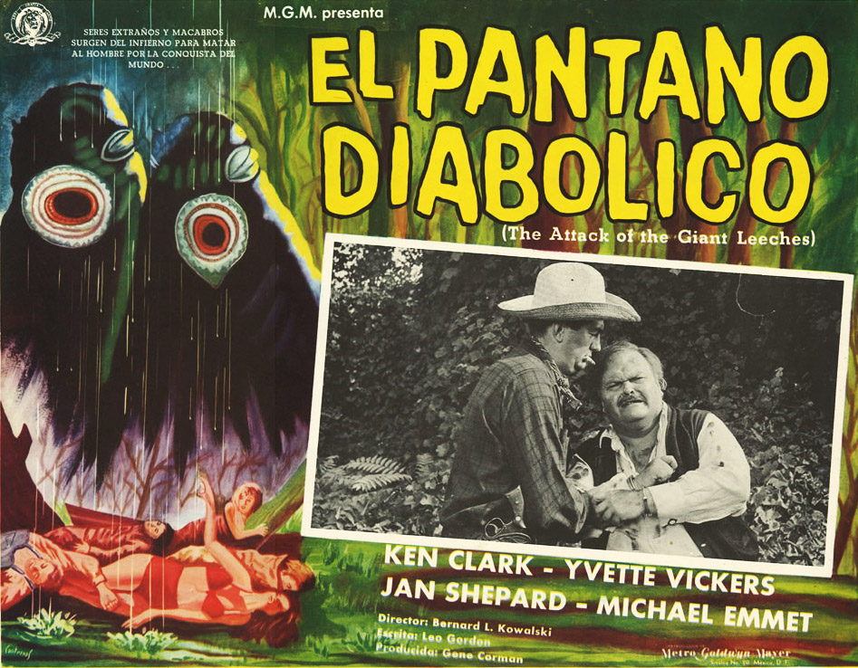 One of the silliest monsters in Cozzoli's collection is the huge, one-eyed leech from 1959's
