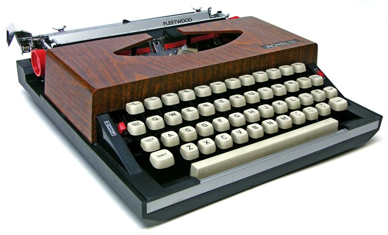 Tom Hanks has a Royal Apollo 10 typewriter from 1969, but Seaver thinks he could be seduced by this deluxe Royal Fleetwood from 1972, featuring a built-in transistor radio. Via Machines of Loving Grace.