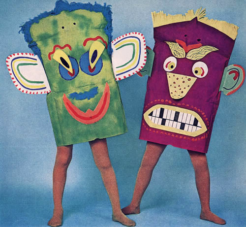 McCall's created the patterns for these bizzarro paper bag costumes in 1969. Lesson learned? Hallucinations are not sexy.