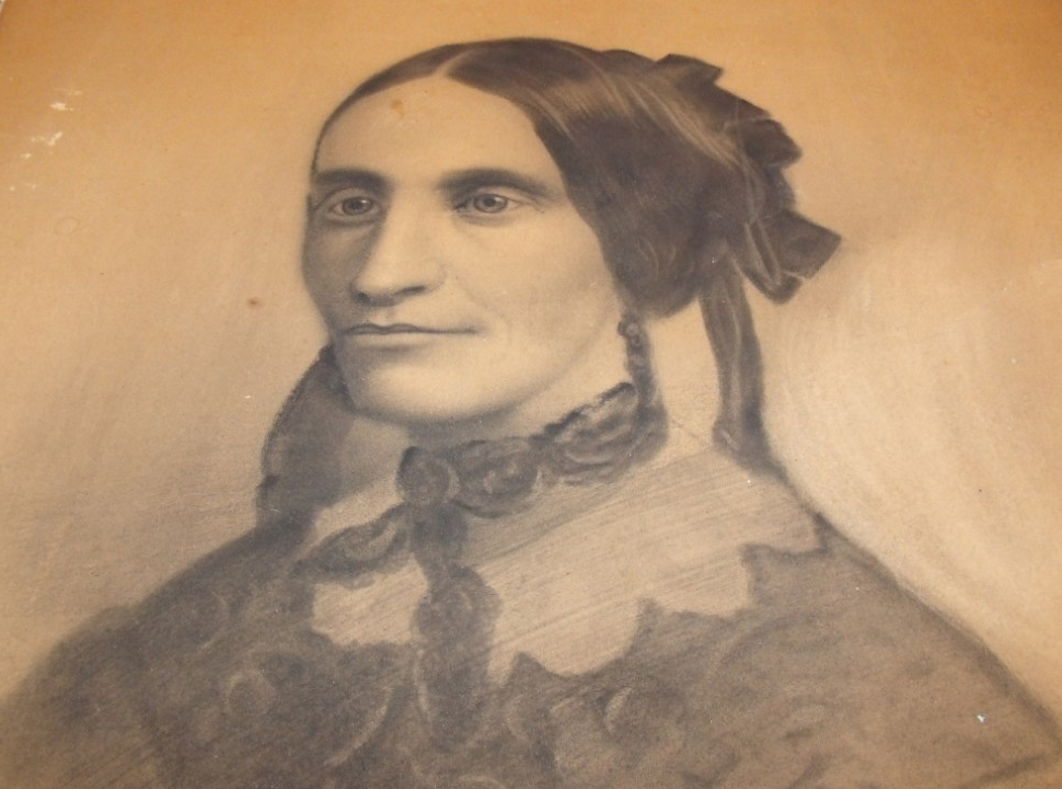 "This 1800s graphite drawing was found hidden behind a painting. The sellers say they purchased the painting when they were out picking and got creeped out. ""We never wanted to leave a house so fast."""