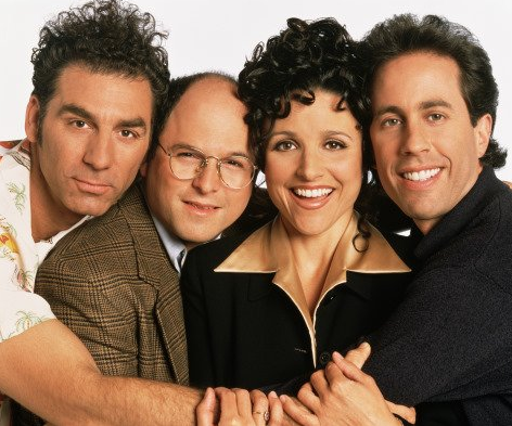 """Seinfeld"" originally ran from 1990 to 1998, but it's never really been out of syndication. Recently, the hair and clothes have started to look dated. Via IMDB."