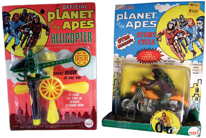 "These AHI ""Planet of the Apes"" toys were officially licensed, but its knock-off ""Action Ape Men"" were not."