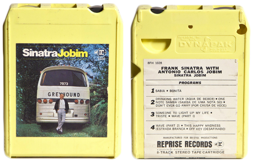 "The infamous ""Sinatra/Jobim"" album, now on view at the Roxbury, NY location of the Eight Track Museum. Image courtesy Bucks Burnett."