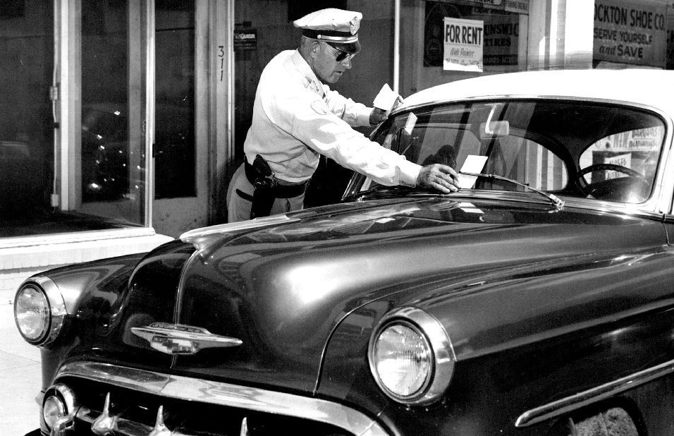 By the 1950s, parking regulations were much easier to enforce thanks to the nifty new meters. Photo courtesy Roth Hall.