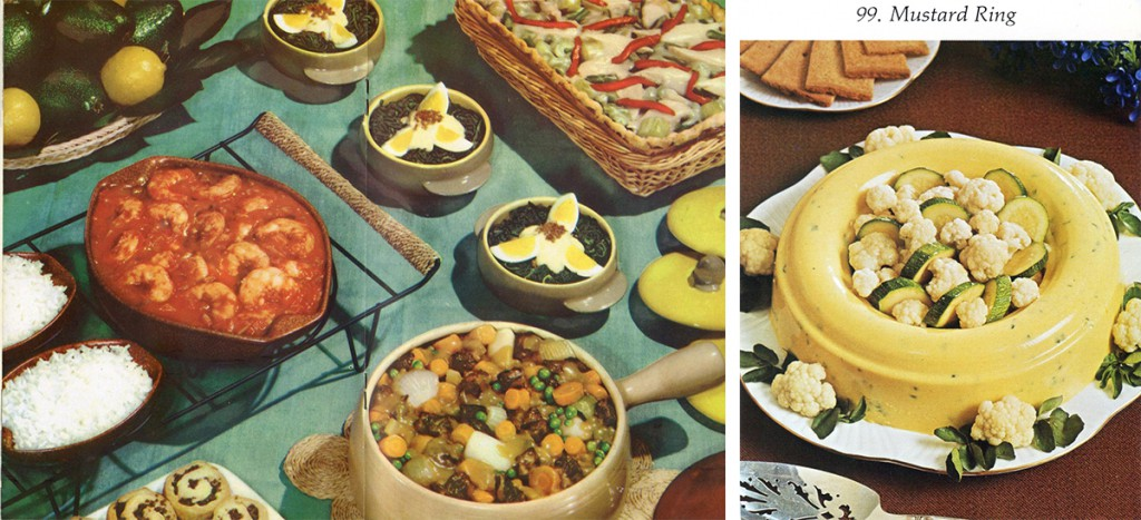 Casseroles and dips were both burgeoning food trends during the mid-20th century.