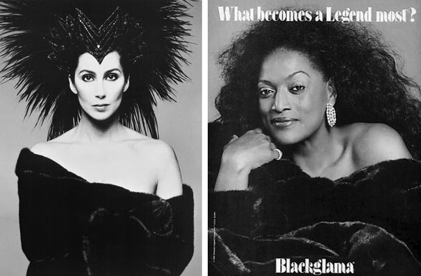 "Blackgama's ongoing ""What Becomes a Legend?"" advertising campaign, started in 1968, features celebrities like Cher and Diana Ross in the brand's dark mink."