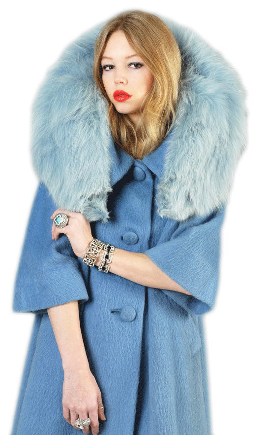 Top: Carrie Bradshaw, played by Sarah Jessica Parker, wore a vintage raccoon fur coat, in the first season of