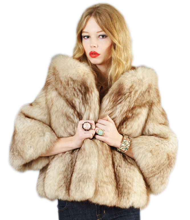 Bustown Modern just sold this cropped jacket, made of arctic fox fur. (Courtesy of Bustown Modern)