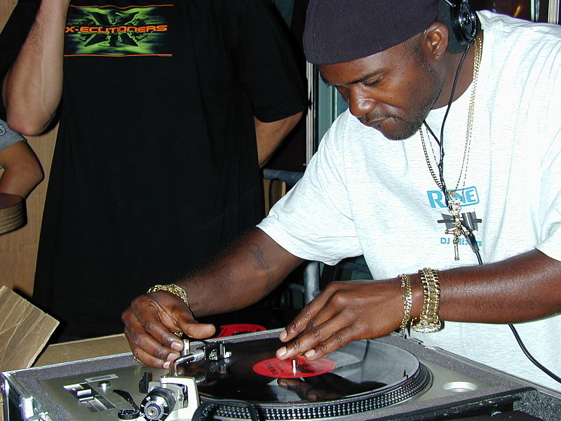Grand Wizard Theodore deejaying at Experience Music Project in Seattle in 2002. Photo by Flintmi, via WikiCommons.