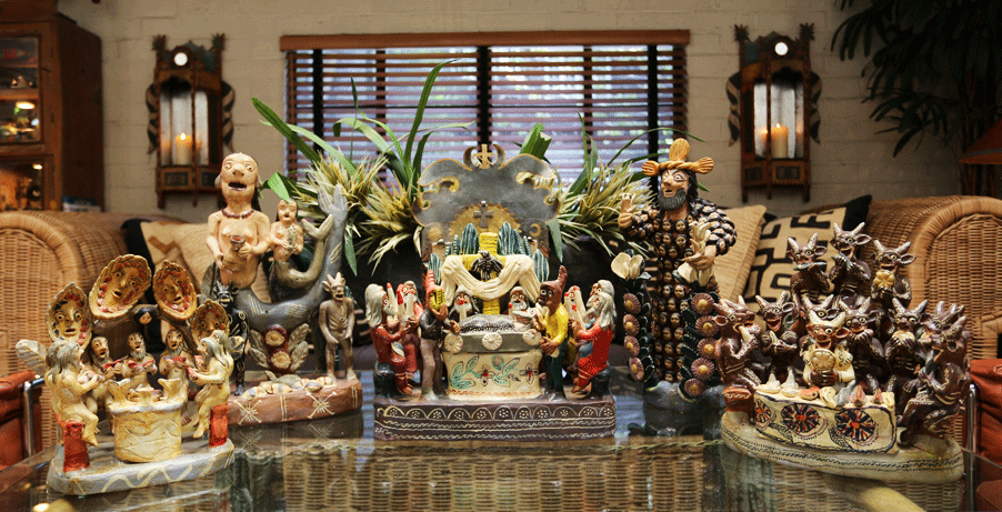 A portion of Lewis' personal collection displayed in his Los Angeles home. Image courtesy Don Lewis.