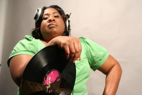 Pam the Funkstress of The Coup employs both turntables and computers in her deejay sets. Via The Coup's Facebook page.