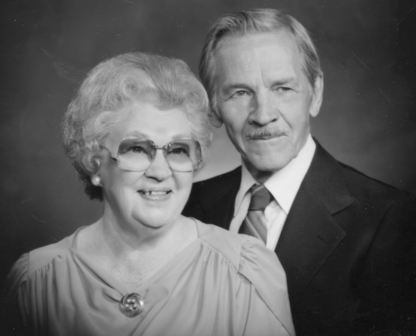 Romie Nunn and his wife, Margaret, who was definitely not a dowser. Photo: Casper Journal Collection, Casper College Western History Center.