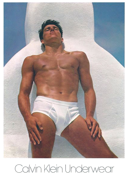 Calvin Klein's very first underwear campaign in 1982 featured pole vaulter Tom Hintaus as photographed by Bruce Weber.