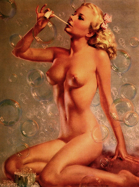 One of Mozert's beloved nude pin-up girls.