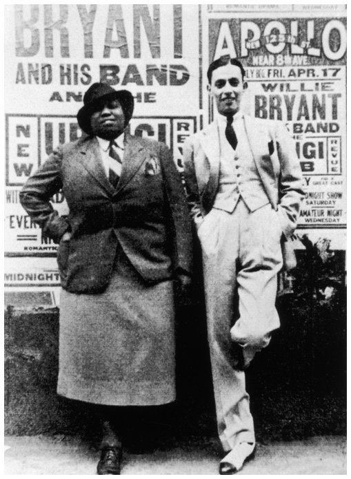 Bentley with bandleader Willie Bryant in 1936. (Via QueerMusicHeritage.us)