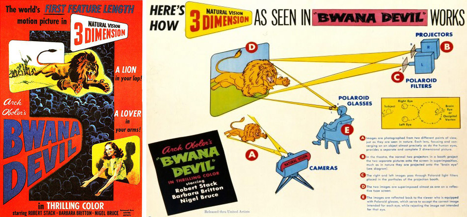 "Publicity for ""Bwana Devil"" even included an explanation of the film's improved 3D technology."