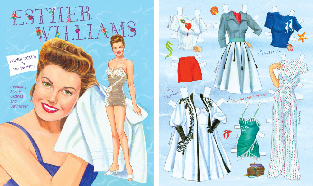 A classic Esther Williams doll printed by Tasiodoro's Paper Studio Press.