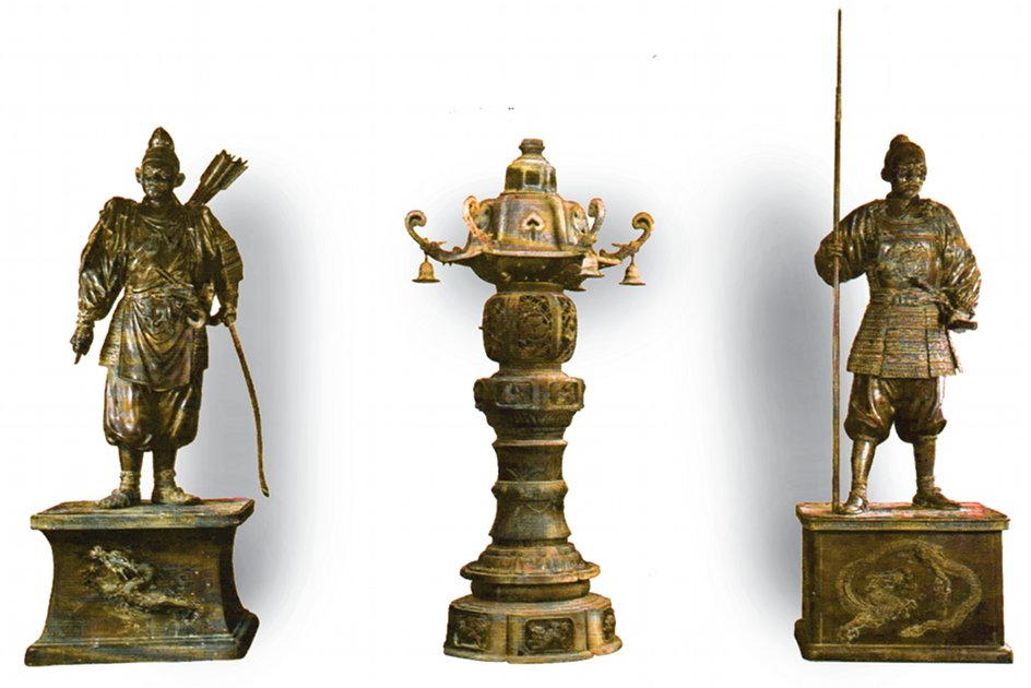 These ancient Asian bronze statues were a part of the World Museum's collection. (Via This Land Press)