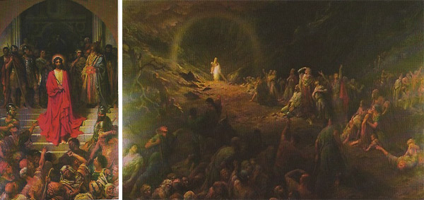 "The 1877 painting ""Ecce Homo (Behold the Man)"" and the 1883 painting ""The Valley of Tears"" were two of Gustave Doré pieces hanging in the World Museum. (Courtesy of LaDonna Osborn)"