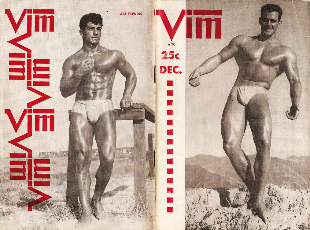 In the 1950s, pocket-sized magazines like Vim were made to be easily concealed in a jacket pocket.