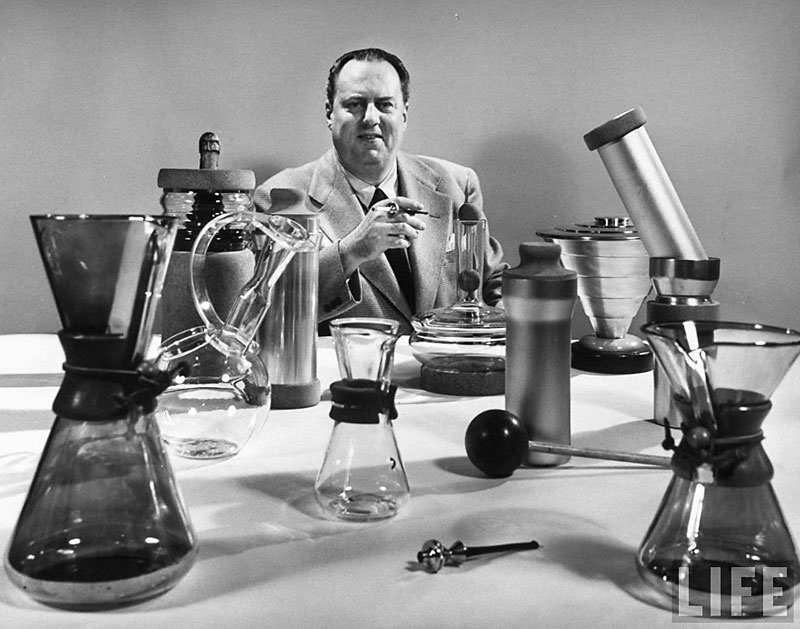 Schlumbohm and a few of his inventions, as shown in LIFE magazine in 1949.