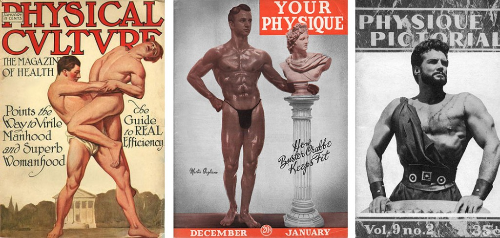 Magazine covers from left, produced in 1915, 1945, and 1959, show the continued reliance on Greek allusions to avoid censorship.