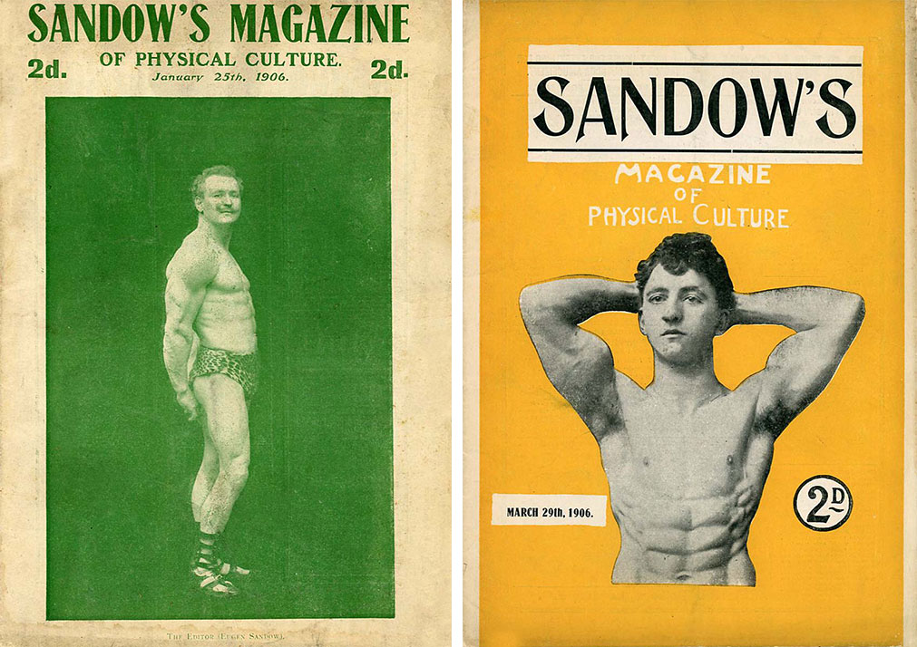 Two issues of Sandow's magazine, from 1906. Courtesy David Chapman.