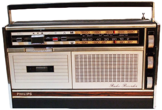 "The Philips ""Radio Recorder"" from 1969 is thought of as the world's first boombox."