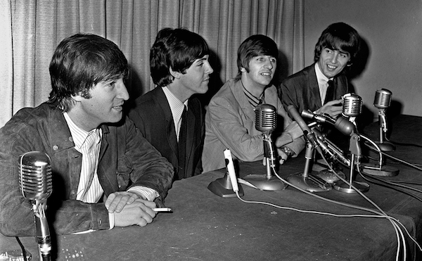 A press conference in Boston, September 12, 1964. Photo: Kevin Cole.