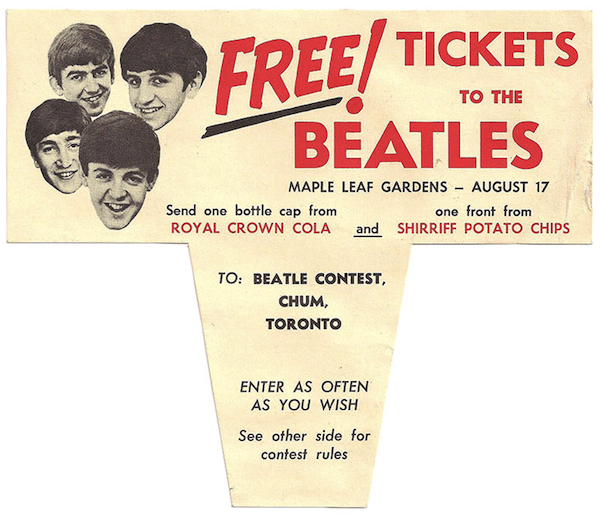 A promotion for the band's 1965 show in Toronto.